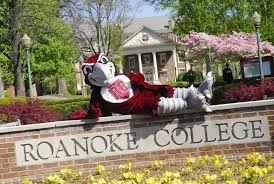 Photograph of the Roanoke College mascot