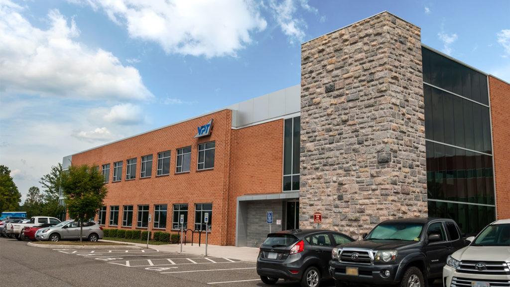 A photo of the VPT building in Blacksburg, VA